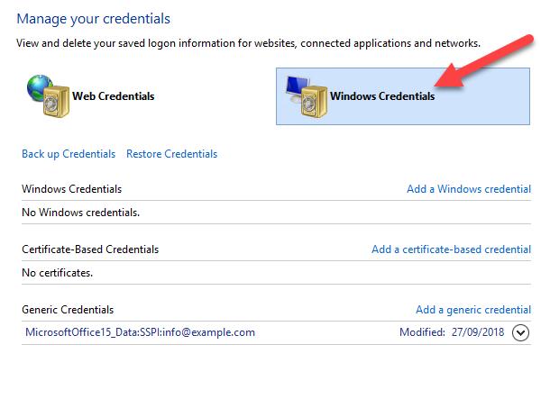 Outlook won't remember password - Bilgi Merkezi - SwissInfoCloud